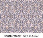 vintage swirl  violet seamless... | Shutterstock .eps vector #596116367