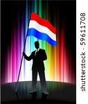 holland flag with businessman... | Shutterstock .eps vector #59611708