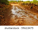 Detail Of A Dirt Road After Th...