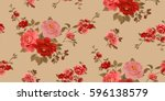 seamless floral pattern in... | Shutterstock .eps vector #596138579