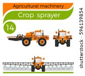 agricultural machinery  crop... | Shutterstock .eps vector #596139854