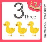 illustrator of three number...