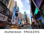 new york city usa   february 3  ... | Shutterstock . vector #596161541