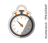 sport chronometer timer icon... | Shutterstock .eps vector #596165669