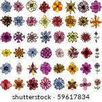 a collection of 48 cartoon like ... | Shutterstock .eps vector #59617834