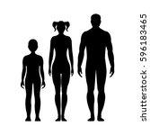 man  woman  and boy. human... | Shutterstock .eps vector #596183465