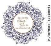 vintage delicate invitation... | Shutterstock .eps vector #596188961