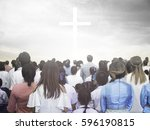 blurred christian | Shutterstock . vector #596190815