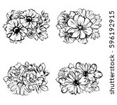 flower set | Shutterstock .eps vector #596192915