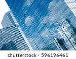 detail shot of modern... | Shutterstock . vector #596196461