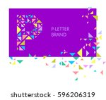 creative logo for the corporate ... | Shutterstock .eps vector #596206319