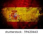 an old grunge flag of spain... | Shutterstock . vector #59620663