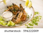 Grilled Tiger Prawns With Dip...
