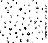 paw print seamless. traces of...   Shutterstock .eps vector #596231159
