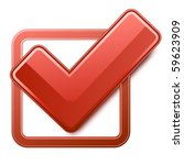 red check box with check mark | Shutterstock .eps vector #59623909