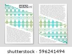 abstract vector layout... | Shutterstock .eps vector #596241494