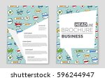 abstract vector layout... | Shutterstock .eps vector #596244947