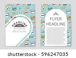 abstract vector layout... | Shutterstock .eps vector #596247035