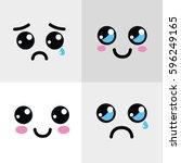 Kawaii Happy And Sad Face Icon