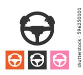 car driver icon vector. | Shutterstock .eps vector #596250101