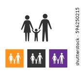 family icon in modern style... | Shutterstock .eps vector #596250215