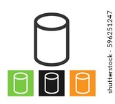 cylinder icon in line style | Shutterstock .eps vector #596251247