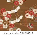 cranes  handball and... | Shutterstock .eps vector #596260511