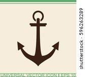 anchor vector icon.   Shutterstock .eps vector #596263289