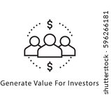 value of investor vector line... | Shutterstock .eps vector #596266181