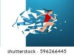 illustration of an athlete... | Shutterstock .eps vector #596266445