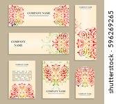 set of design templates for...   Shutterstock .eps vector #596269265
