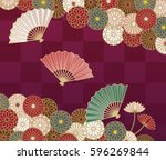 japanese traditional... | Shutterstock .eps vector #596269844