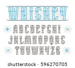 decorative serif font in... | Shutterstock .eps vector #596270705
