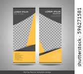 roll up banner template design... | Shutterstock .eps vector #596271581
