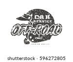 car service emblem. graphic... | Shutterstock .eps vector #596272805