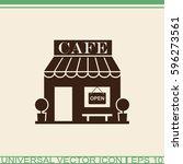 cafe vector icon. | Shutterstock .eps vector #596273561