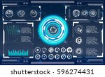 radar screen. vector... | Shutterstock .eps vector #596274431