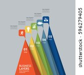3d pyramid growth in business...   Shutterstock .eps vector #596279405