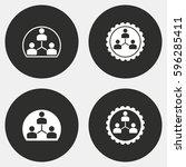 human interaction vector icons... | Shutterstock .eps vector #596285411