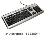 pc computer keyboard with... | Shutterstock . vector #59630044