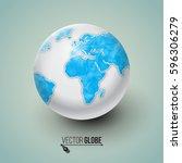 earth globe. polygonal design... | Shutterstock .eps vector #596306279