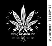 marijuana   cannabis logo... | Shutterstock .eps vector #596309489