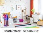 cozy modern baby room decor... | Shutterstock . vector #596309819