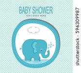baby shower design | Shutterstock .eps vector #596309987