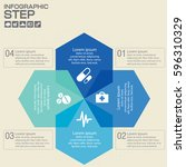 four steps infographics   can... | Shutterstock .eps vector #596310329