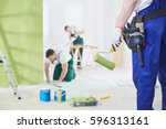 professional interior... | Shutterstock . vector #596313161