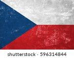czech republic   czech flag on... | Shutterstock . vector #596314844