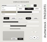 set of interface web elements....