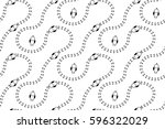 seamless pattern with birds...   Shutterstock .eps vector #596322029