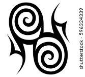 tattoo tribal vector designs... | Shutterstock .eps vector #596324339